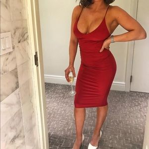 Small red spandex dress